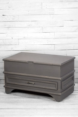 Gray Chest with Bottom Drawer