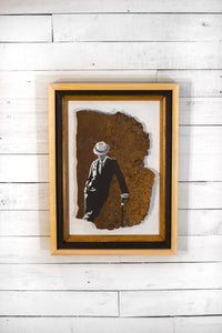 Rusted Metal Art: Man on The Town