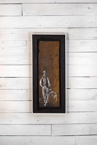 Rusted Metal Art: Cyclist