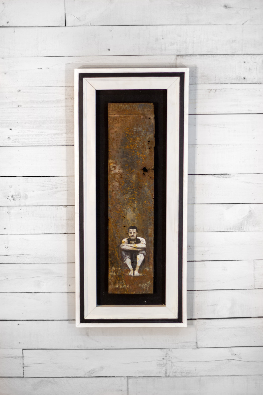 Rusted Metal Art: Thinker
