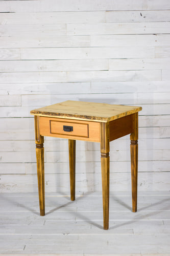 Live Edge Beetle Kill Side Table
