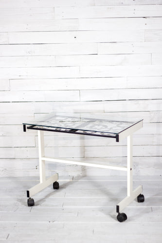 Gear Top Table with Casters
