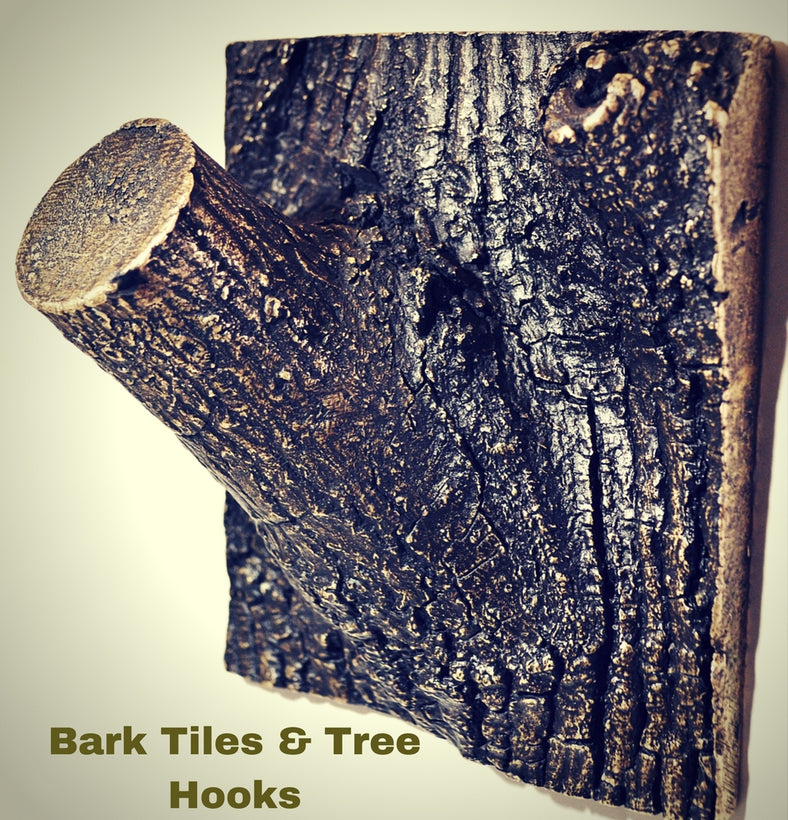 Bark Tiles & Tree Hooks