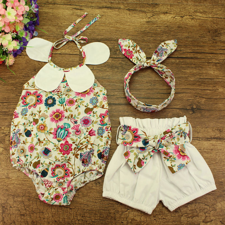 e85dce204b79 Floral baby girl outfit 0-12 months – Baby-Blends By MG