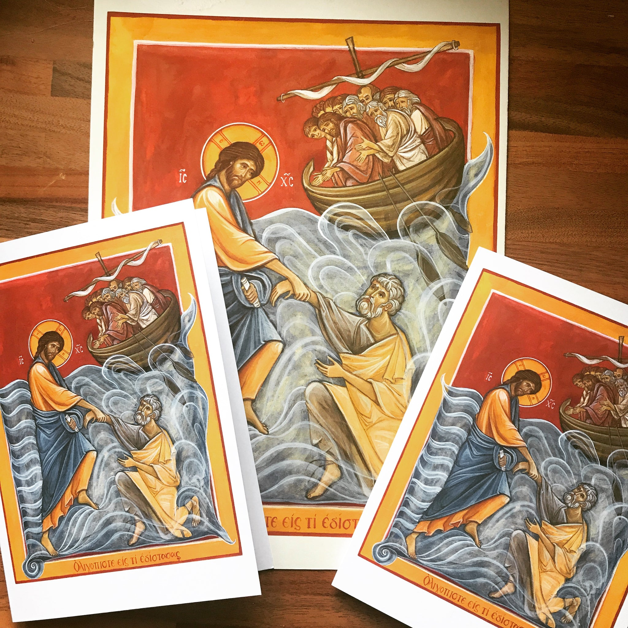 Christ & St. Peter A5 art card