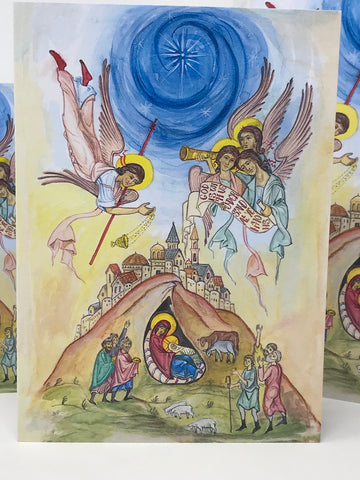 Nativity Icon Card 5x7 - Colour