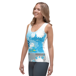 CMYK Flowers & Fruit Tank Top