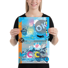 Load image into Gallery viewer, Cyan CMYK Matte Poster Print