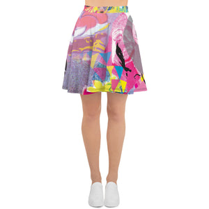 Open image in slideshow, CMYK Flare Skirt