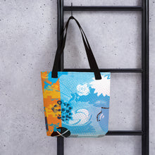 Load image into Gallery viewer, CMYK Cyan Tote Bag