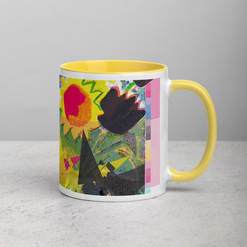 CMYK Yellow Mug with Color Interior - 11oz