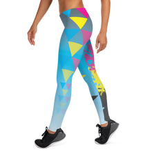 Load image into Gallery viewer, CMYK Triangle Full Length Leggings