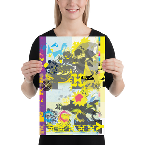 Open image in slideshow, CMYK Yellow Matte Poster Print