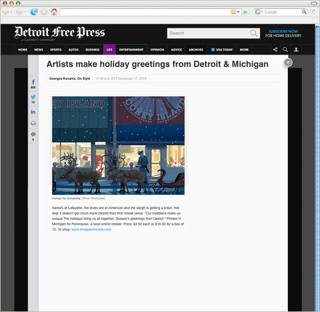 Artists Make Holiday Greetings From Detroit and Michigan