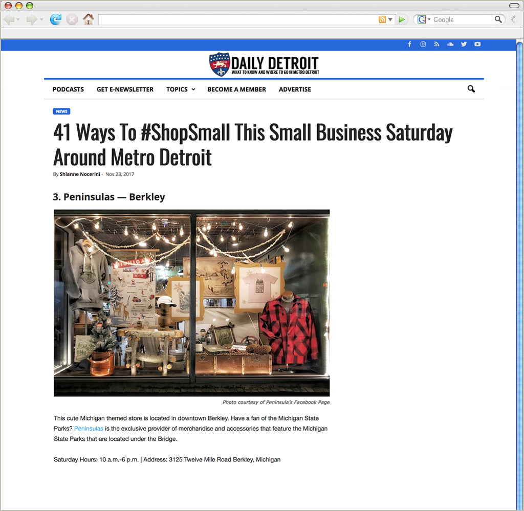 41 Ways To #ShopSmall This Small Business Saturday Around Metro Detroit