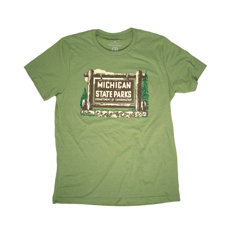 1961 Michigan State Park Vehicle Permit T-Shirt