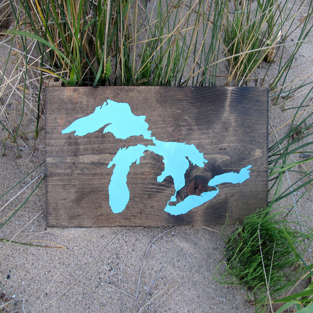 Great Lakes Wood Print