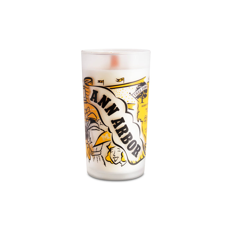 Ann Arbor Frosted Glass Candle