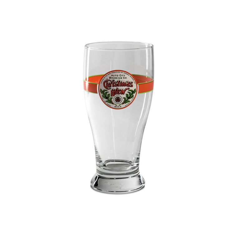 Auto City Christmas Brew Pint Glass