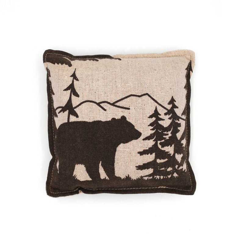 Bear Silhouette Balsam Fir Pillow