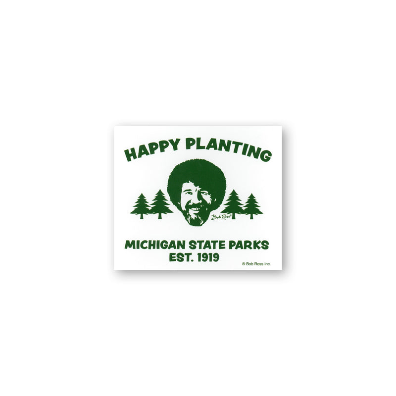 Bob Ross Michigan DNR Sticker