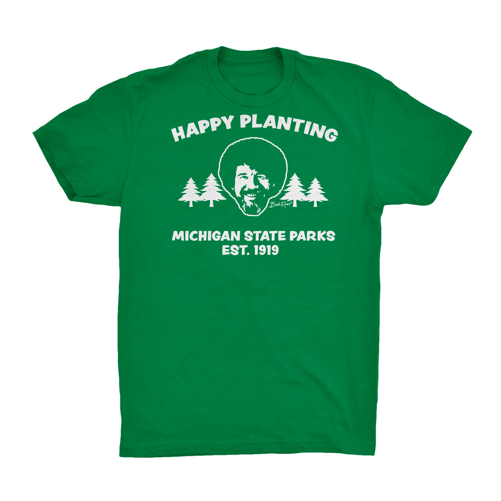 Bob Ross Michigan DNR T-Shirt - Green
