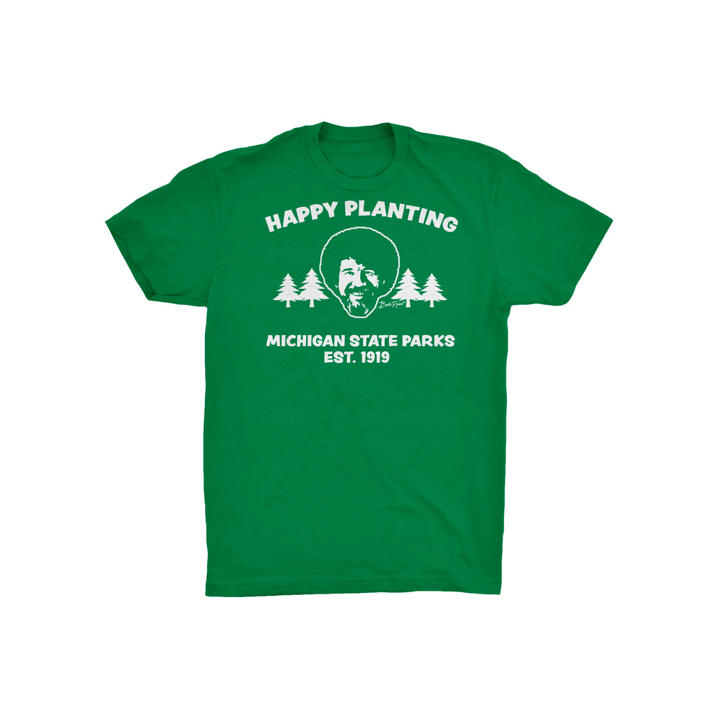 Bob Ross Michigan DNR Youth T-Shirt - Green