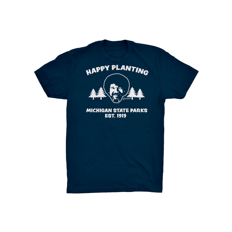 Bob Ross Michigan DNR Youth T-Shirt - Navy