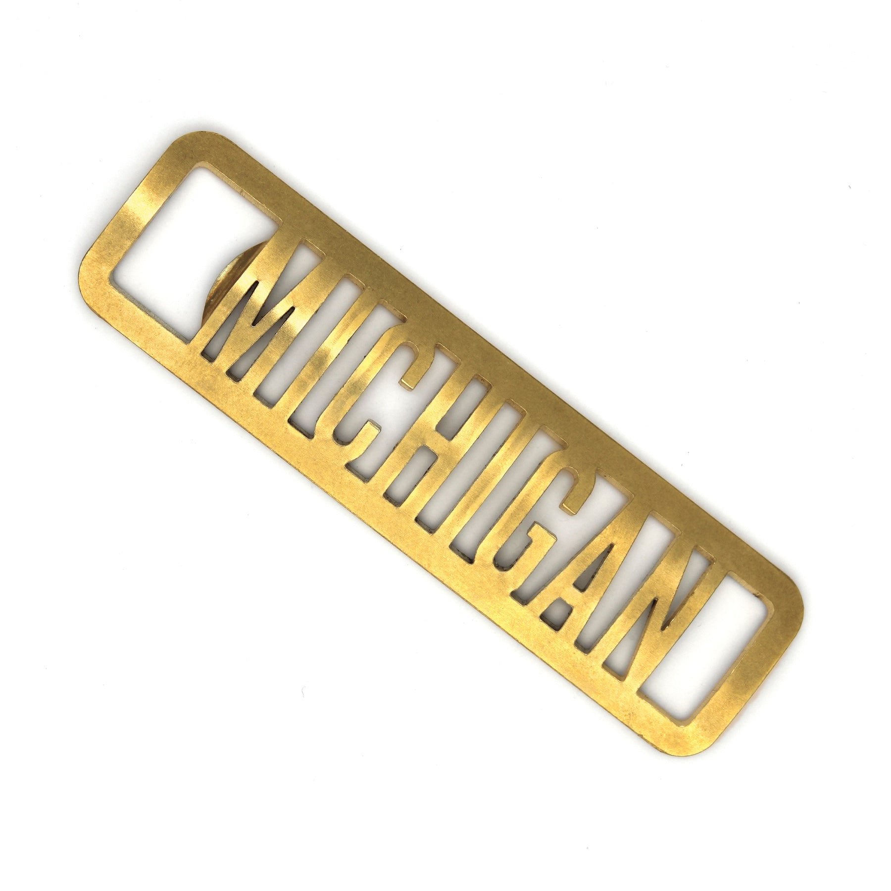 Brass Michigan Bottle Opener