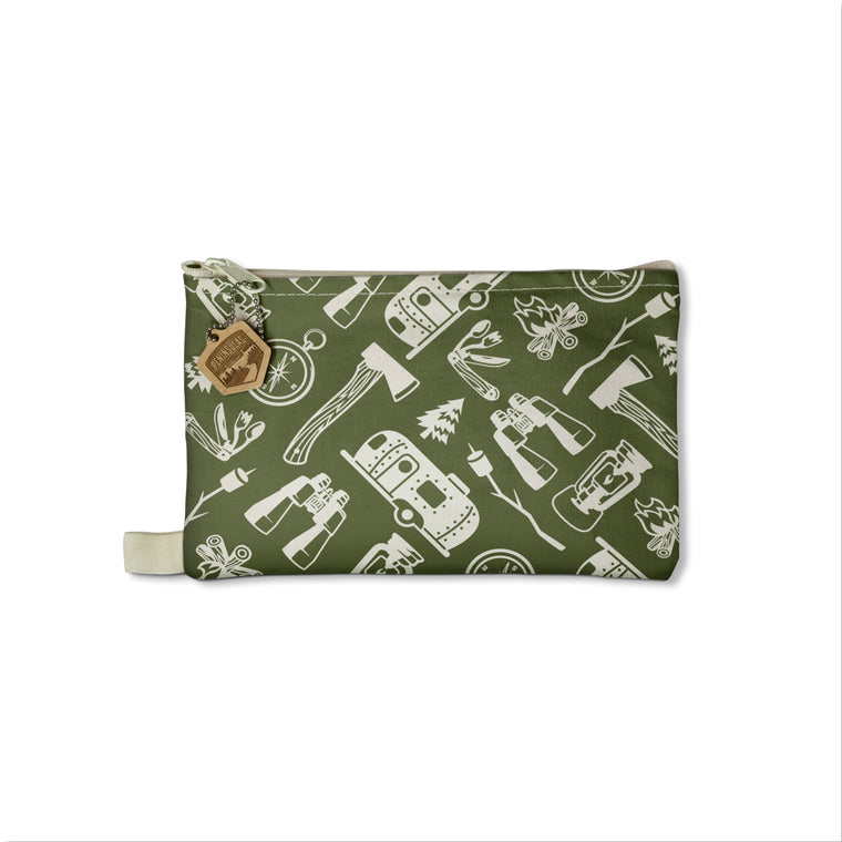 Camping Icons Canvas Pouch