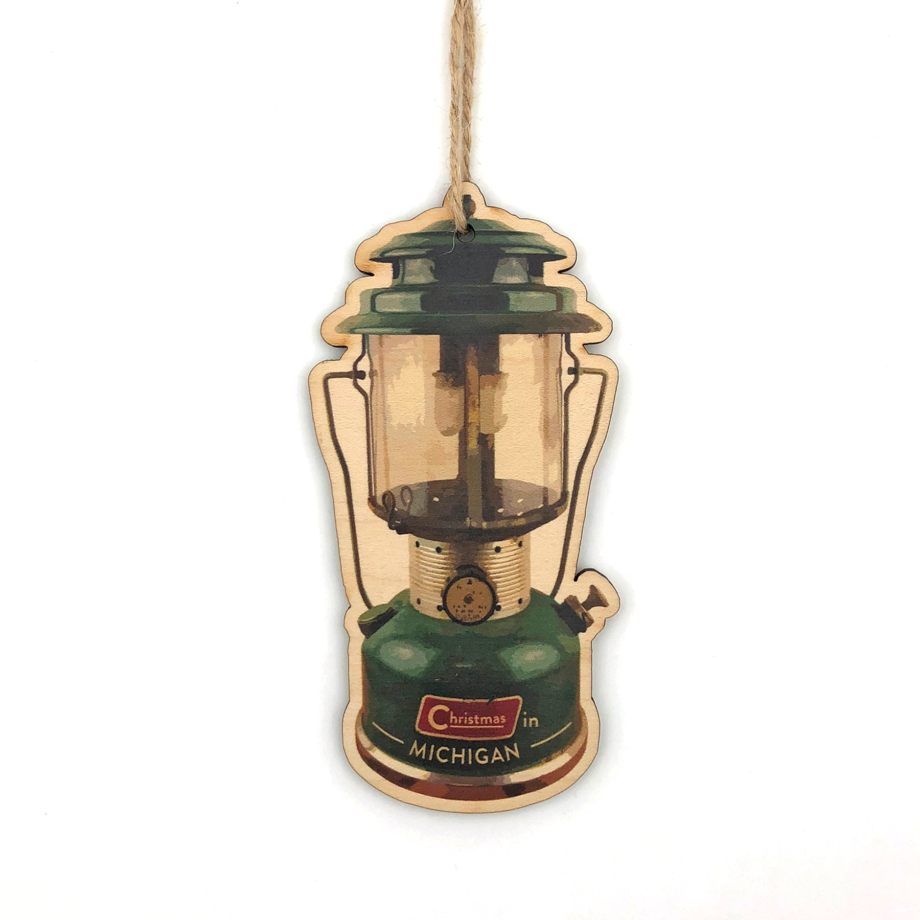 Coleman Lantern Wood Ornament