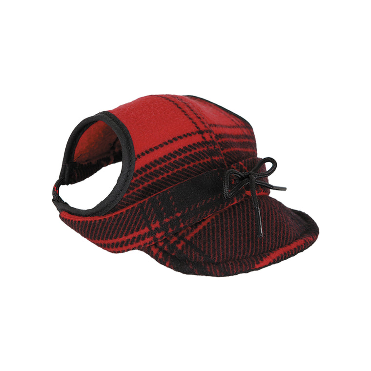 Critter Kromer Cap - Red & Black Plaid