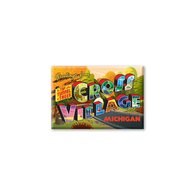Cross Village Postcard Magnet