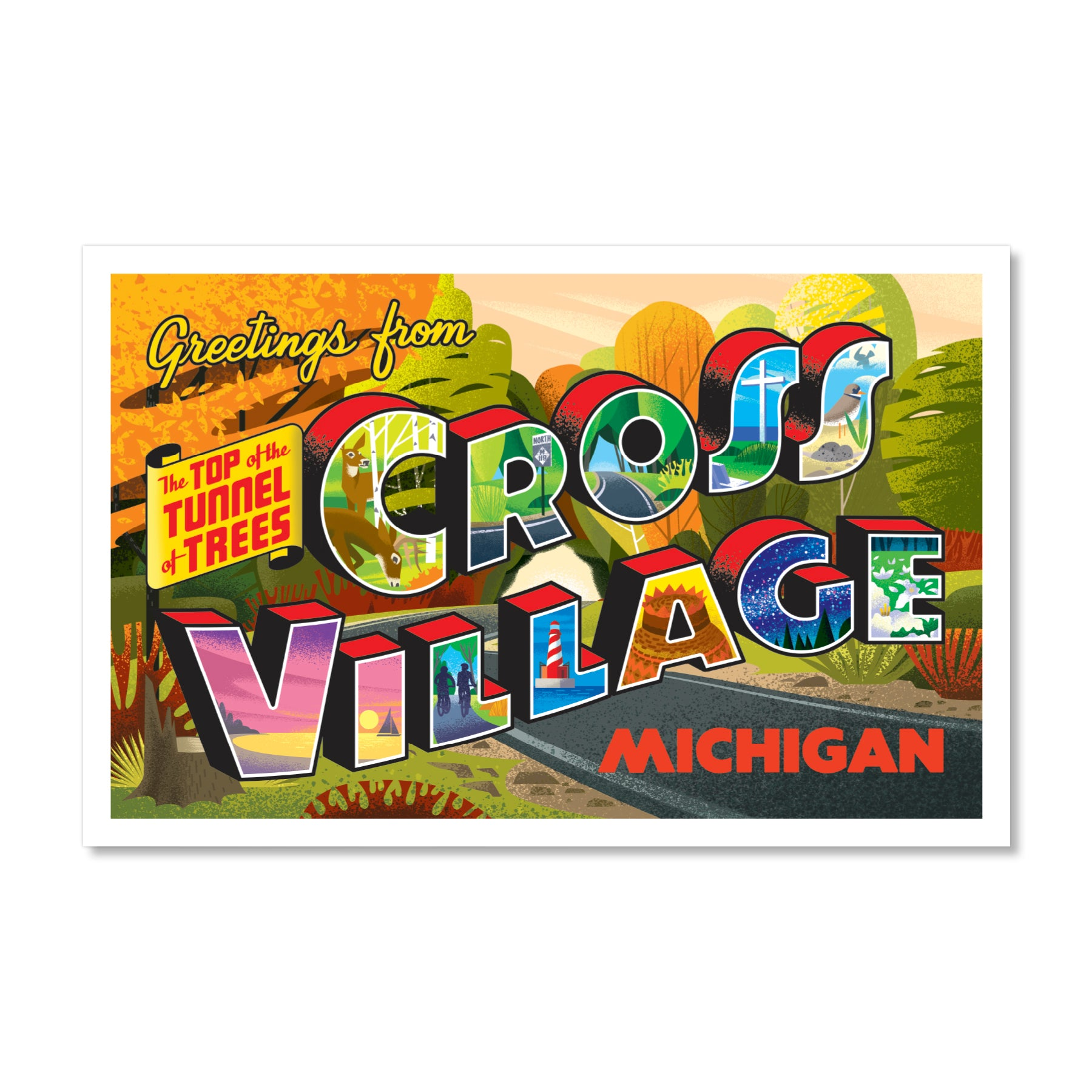 Cross Village Postcard Print