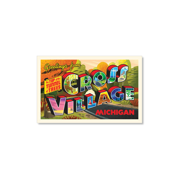 Cross Village Postcard Sticker