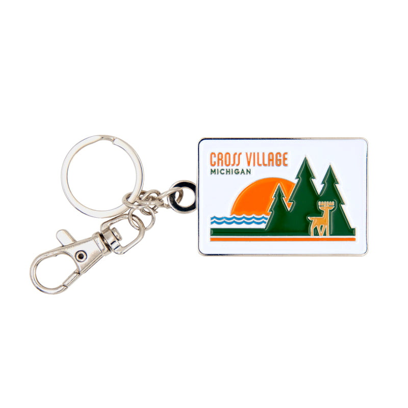 Cross Village Sunset Key Fob