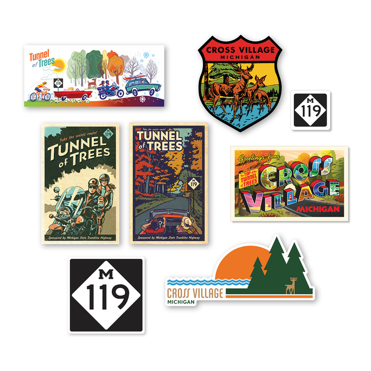 Cross Village / Tunnel of Trees Sticker Bundle