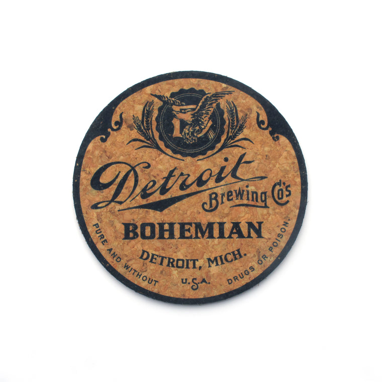 Detroit Brewing Company Cork Coasters - Set of 6