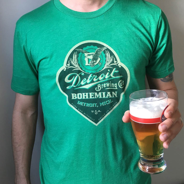 Detroit Brewing Company Green T-Shirt