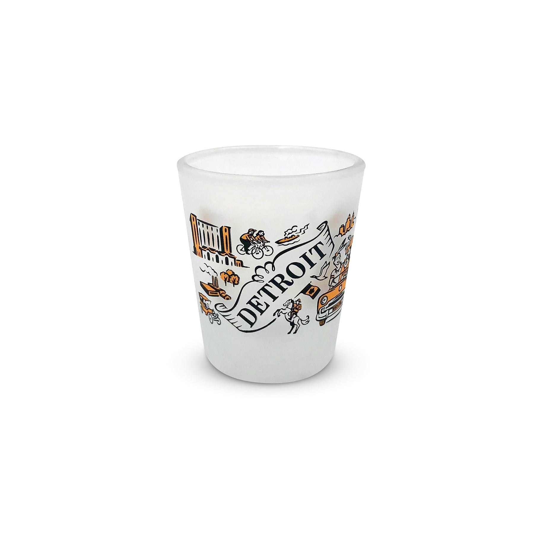 Detroit Frosted Shot Glass