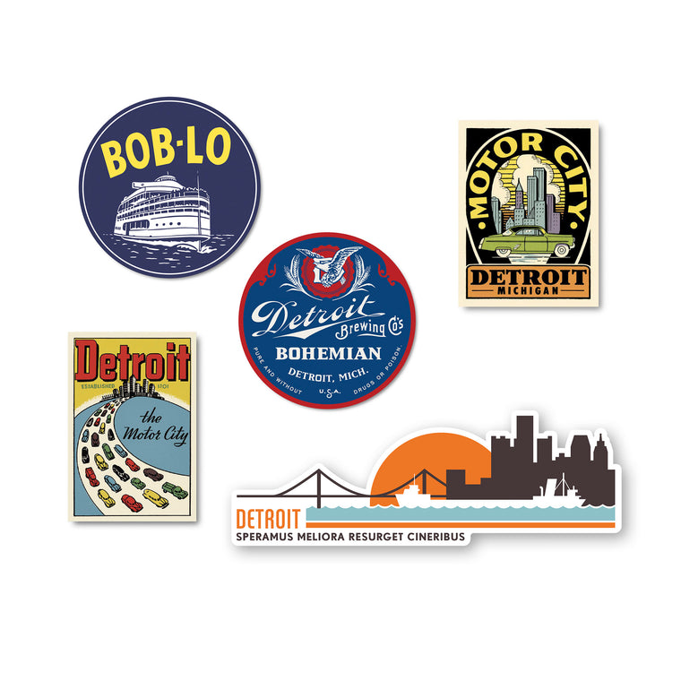 Detroit Sticker Bundle