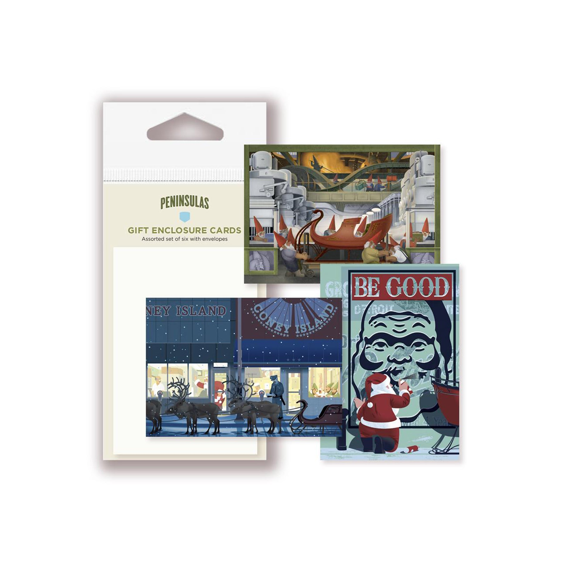 Detroit Themed Gift Enclosure Card Assortment