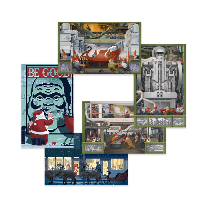Detroit Themed Holiday Card Assortment