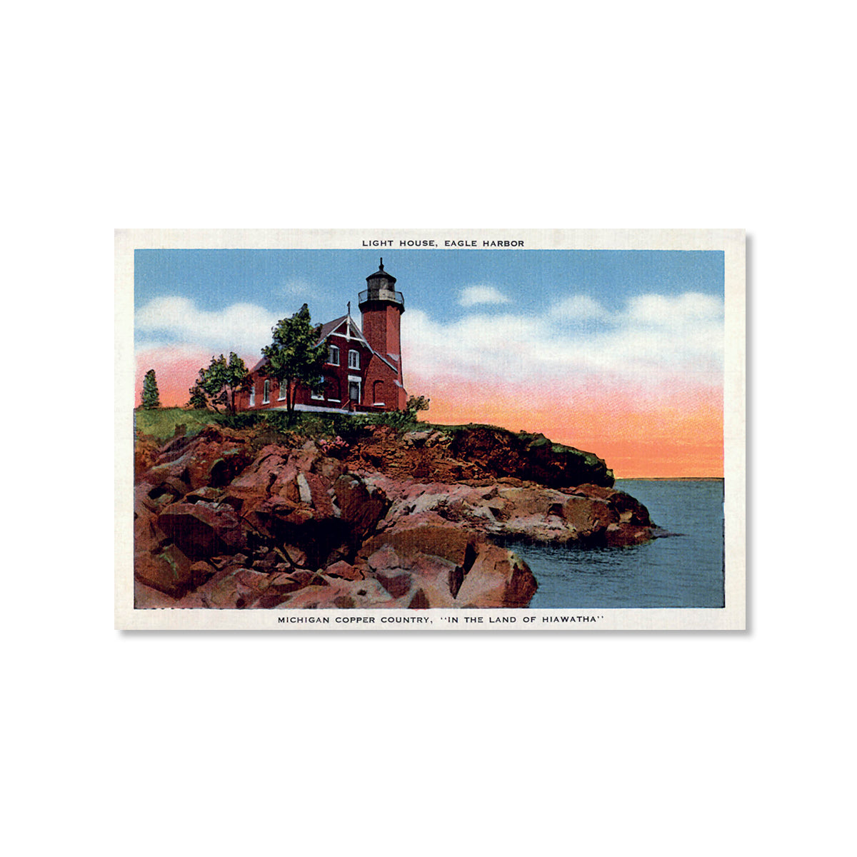 Eagle Harbor Light House Postcard