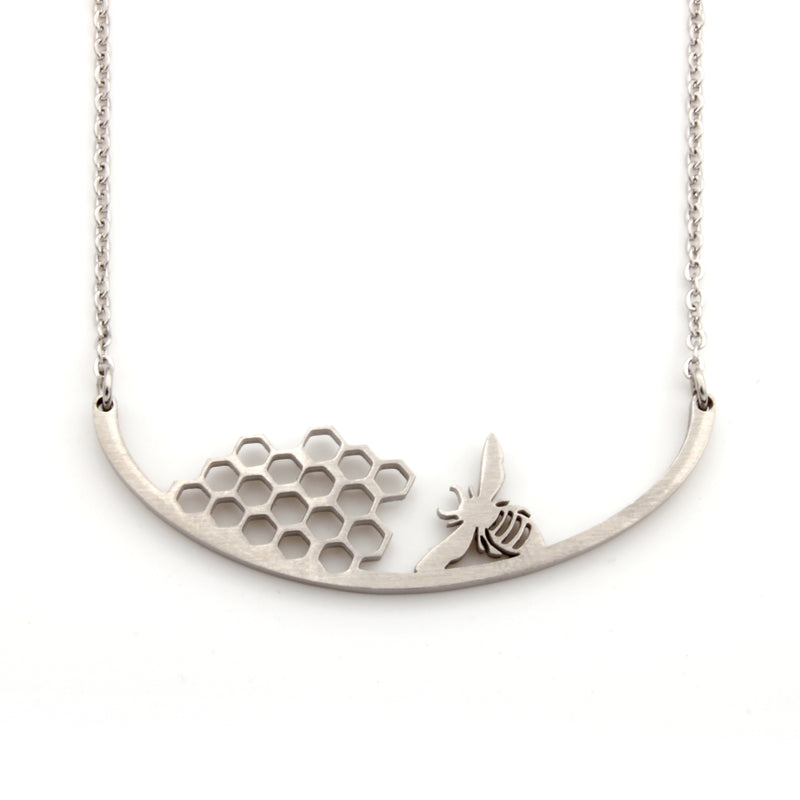 Stainless Steel Necklace - Bee