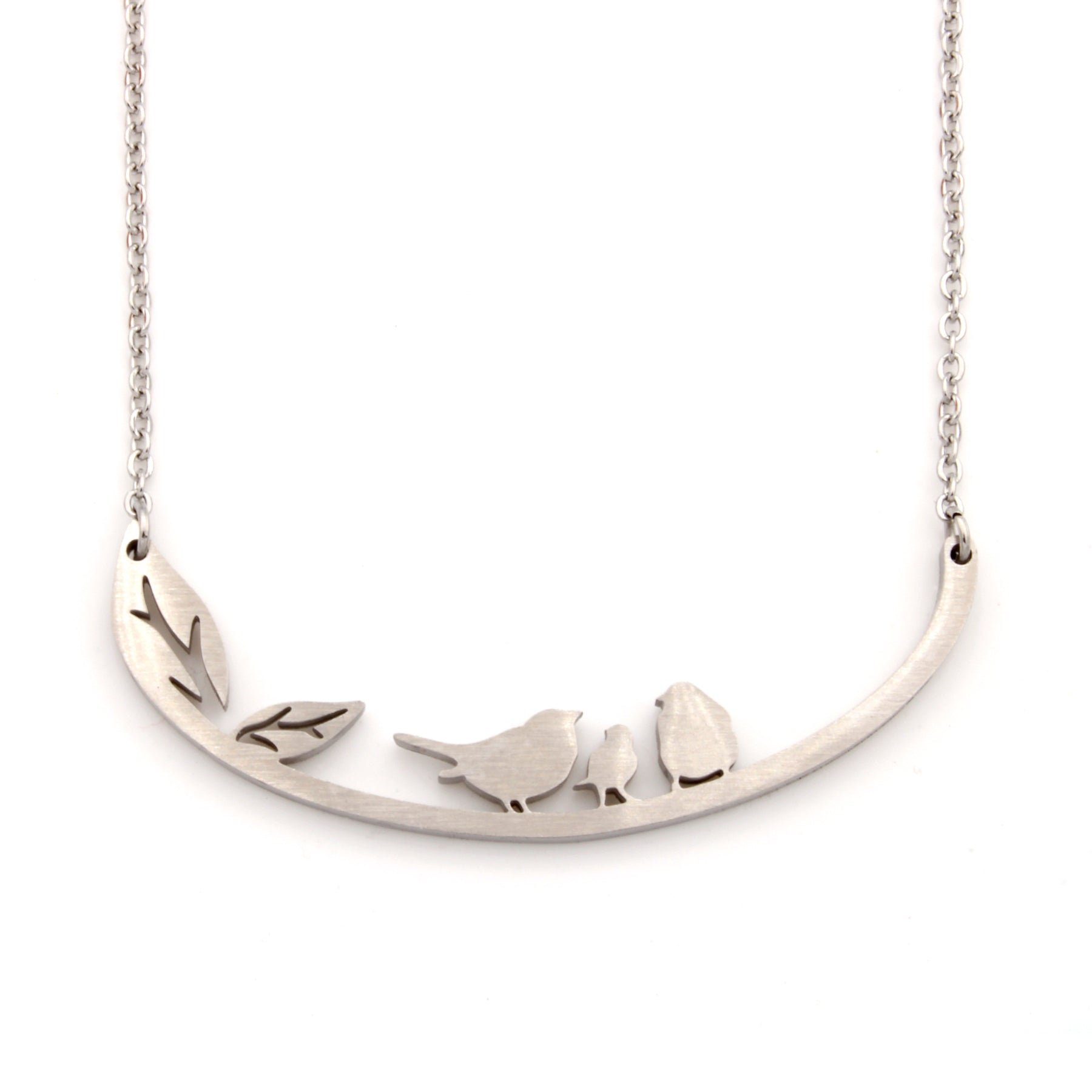 Stainless Steel Necklace - Birds