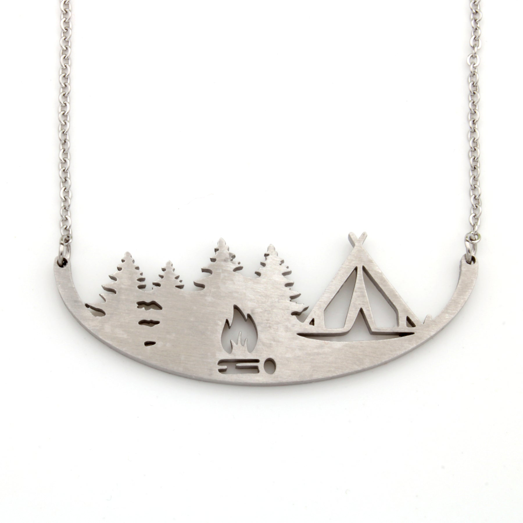 Stainless Steel Necklace - Tent