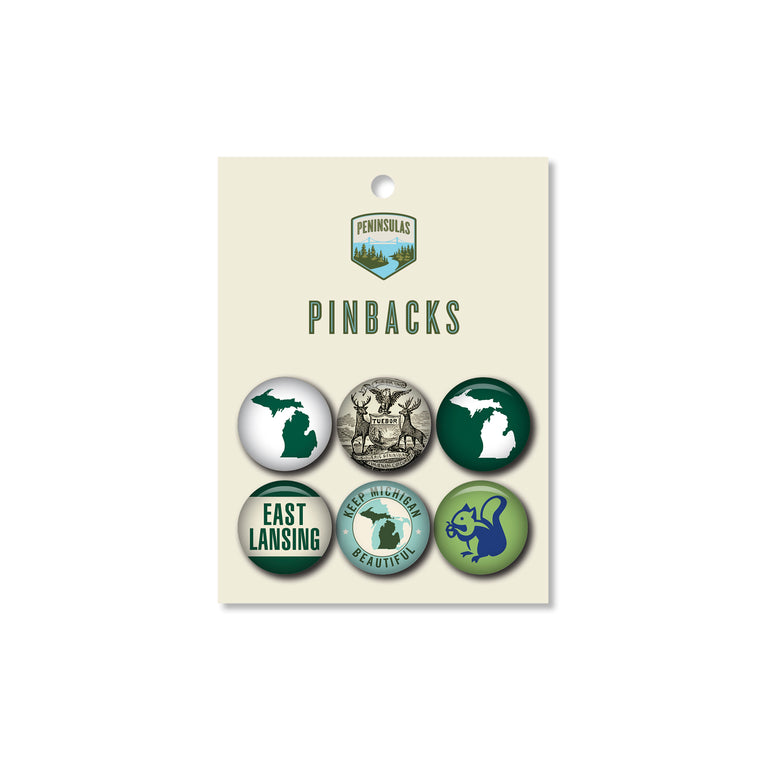 Go Green! Pinback Set (Set of 6)