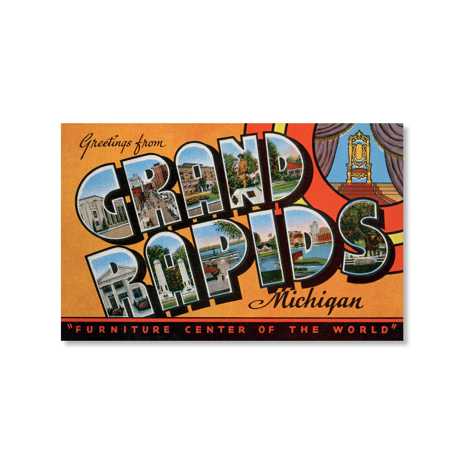 Greetings from Grand Rapids Postcard