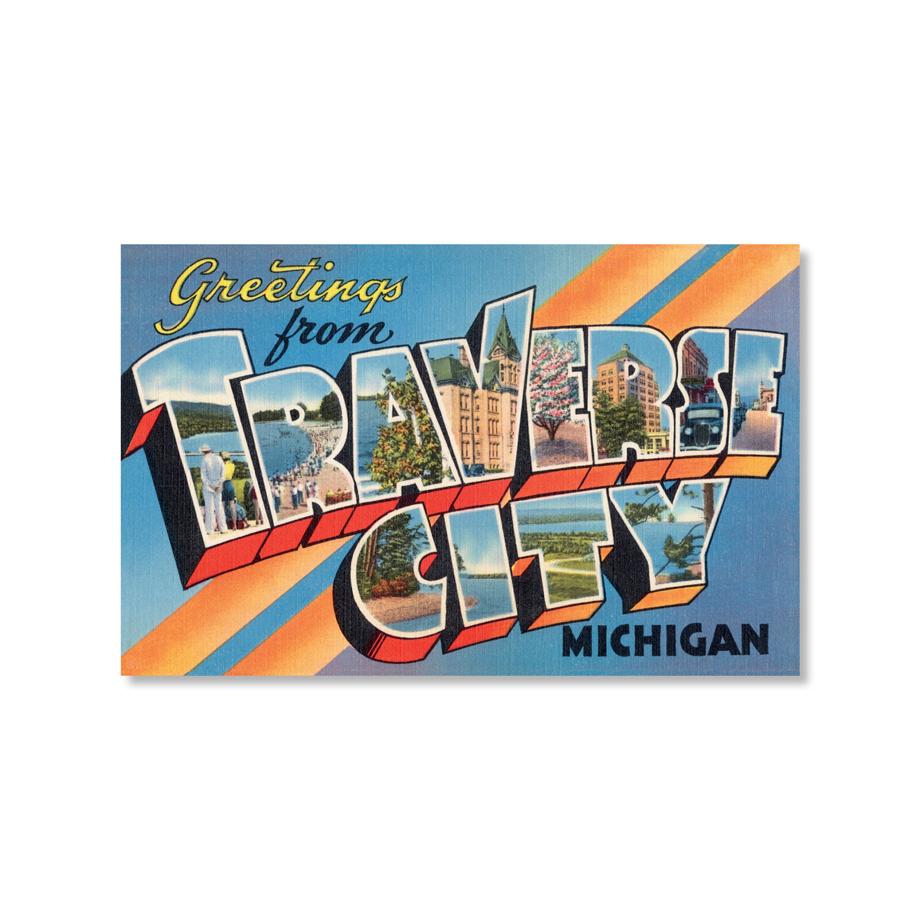 Greetings from Traverse City Postcard